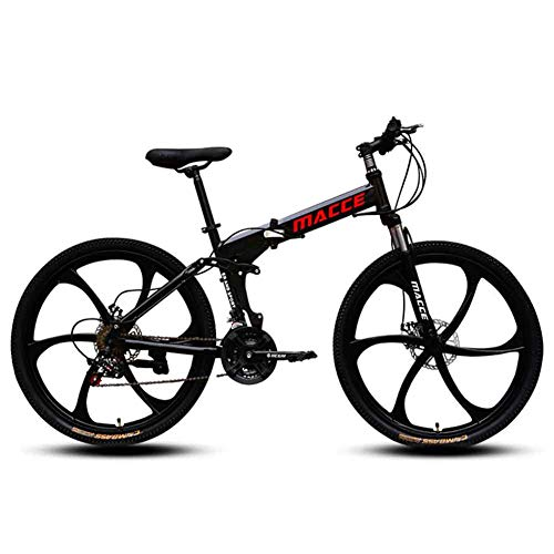 LOISK Mountain Bike Bicicletas montaña Aleación Aluminio Velocidad Variable a Campo traviesa Bicicleta Deportes para Hombres y Mujeres Adultos Bicicleta,Negro,21 Speed