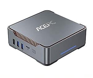 immagine di Mini PC,Intel Celeron J4125,8GB RAM+120GB ROM,Windows 10 Pro(64-bit),Supporto 2.5'' SATA SSD/HDD,Dual WiFi 2.4/5G, Bluetooth 4.2,4K HD,2 HDMI+1 VGA +USB 3.0 Porta AK3 Mini Computer Desktop
