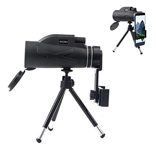 80x100 telescopio monocular al aire libre con soporte para teléfono y trípode kit utilidad para usar
