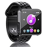 SEWOBYE Lecteur MP3 1.6' 3D Écran Complet, 16GO HiFi Musique MP3 Bluetooth 4.2, Baladeur MP3 Sport avec Podomètre, Support...