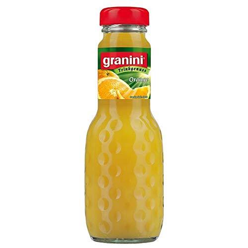 24 Flaschen a 200ml Granini Orangensaft in MEHRWEG Pfand Flaschen orange Trinkgenuss