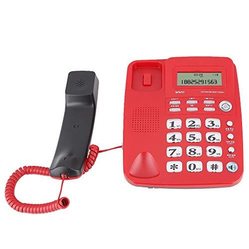 01 Teléfono de Escritorio, teléfono residencial de Doble tecla, para Uso en el hogar, Uso en el hogar, Uso en la Oficina(Red)