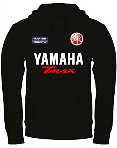 Print & Design Sweatshirt Yamaha Tmax Kapuzenpullover personalisierte (m, Schwarz)