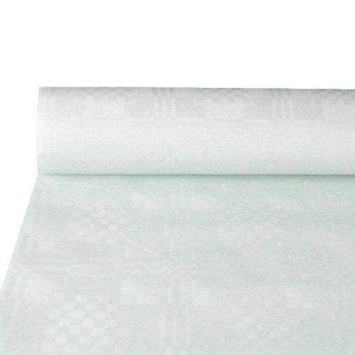 PAPSTAR 12540 Damast-Tischtuch, Rolle, 10 x 1 m, weiá, weiß