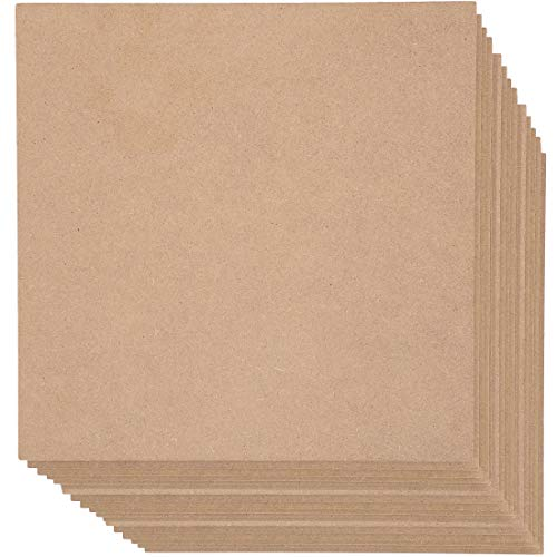 MDF Board, Chipboard Sheets for Crafts (12 x 12 in, 20-Pack)
