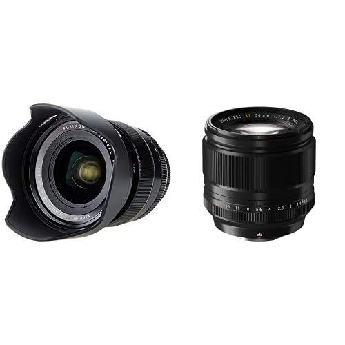 Fujifilm Fujinon Lens Xf16Mm F1.4 R WR - Objetivo para Cámara, Color Negro+ Xf 56 Mm F:1.2 R - Objetivo para X (Diámetro: 62 Mm), Negro
