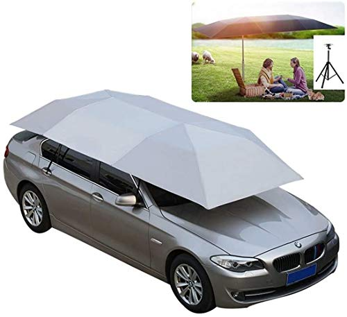 GMZTT Car Sunshades Automatic Car Tent Roof Cover Portable Collapsible UV Protection Camping Outdoors Picnic Shed, Color 2 (Color : Blue-4.2x2.2m) (Color : Gray4.6x2.3cm)