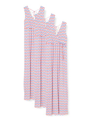ESPRIT Maternity Damen Dress Maxi Nursing Sl AOP Kleid, Mehrfarbig (Coral 645), 40 (Herstellergröße: L)
