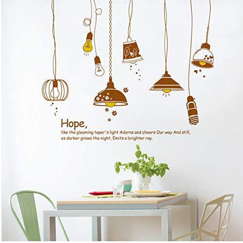 GKAWHH Stile Europeo The Hope Lampadario Adesivo Murale per Soggiorno Camera da Letto Cucina Decorazione Murale Adesivo Rimovibile Arte Murale