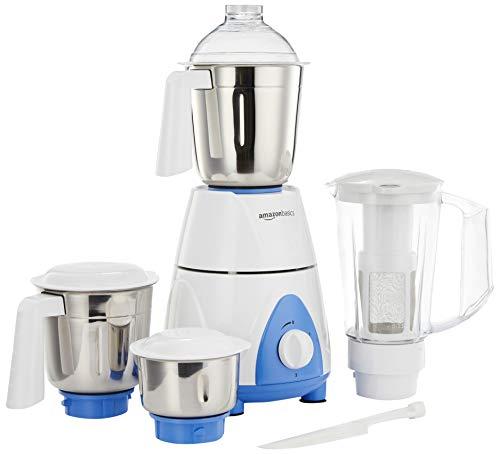 AmazonBasics Premium 750W Mixer Grinder with 3 Stainless Steel Jar + 1 Juicer Jar