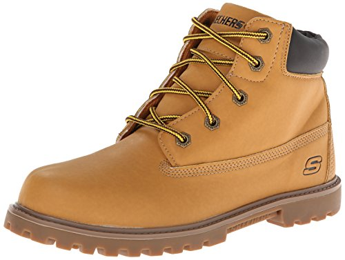 Skechers Kids Mecca Bunkhouse Classic Lace Boot,Wheat/Tan,4 M Big Kid
