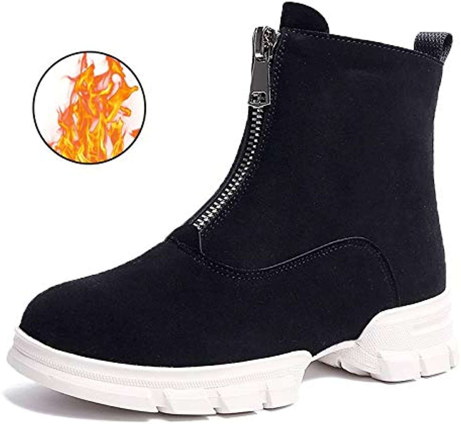 QDL1 Fujin FUJIN Brand Women Ankle Boots Winter Plush Keep Warm shoes Front and Rear Zipper Female shoes Fashion for Women shoes
