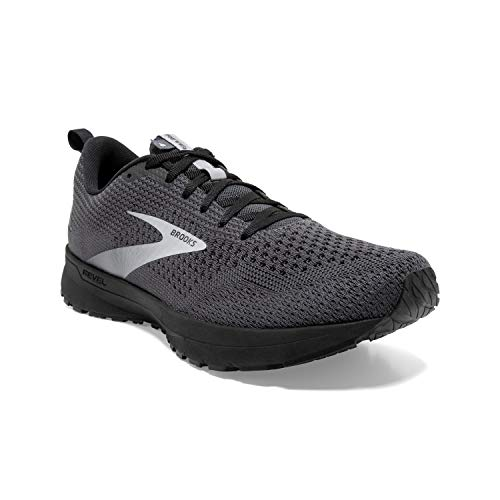 Brooks Men's Revel 4, Grey/Black, 11 Medium