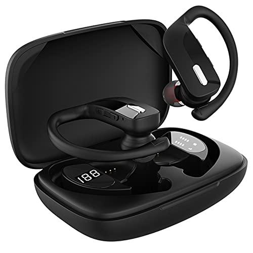 ML S HJDY Auriculares inalámbricos, Auriculares táctiles Bluetooth montados en la Oreja, micrófono Incorporado, Auriculares estéreo a Prueba de Agua, adecuados para Juegos y Fitness,Negro