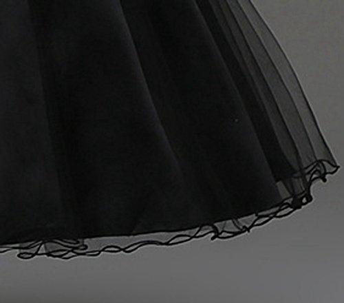 Happy Cherry - Vestido Ceremonia para Niñas para Fiesta Boda Falda Corta sin Mangas con Lentejuelas Encaje Falda Tutú de Tul Vestido Princesa Linda - Negro - Talla ES 6 Años