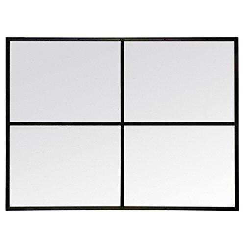 Miroir fenêtre rectangulaire en métal noir 90x120cm Marcel DESIGN