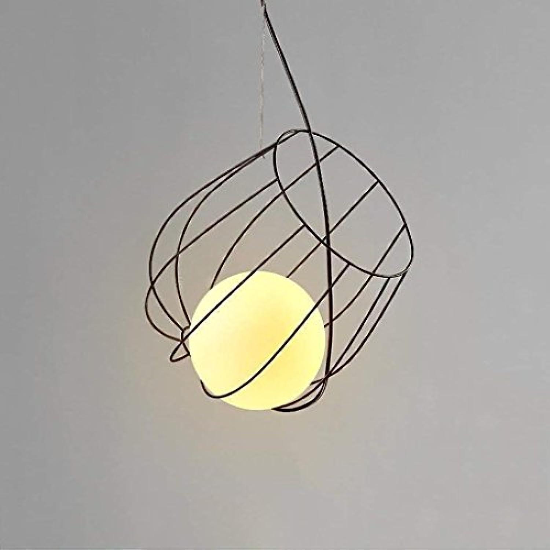 QAZ Einfache Kronleuchter kreative Restaurant Café Studio Bügeleisen Dekorative Leuchten Retro Deckenleuchte Leuchten (Gre  A)