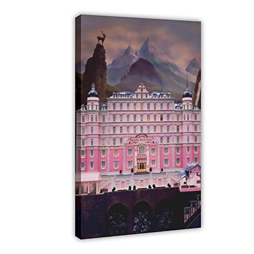 Filmposter The Grand Budapest Hotel 3, Leinwandbild, Wandkunst, Dekordruck, Gemälde für Wohnzimmer, Schlafzimmer, Dekoration, 40 x 60 cm, Rahmen