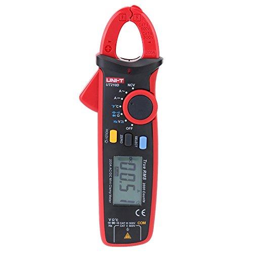 Hoher Präzision UNI-T UT210D Digital AC / DC-Strom Spannung Widerstand Kapazität Zangenmessgerät Multimeter Temperaturmessung Auto Range
