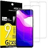 NEW'C 2 Unidades, Protector de Pantalla para Xiaomi Mi 10 Lite, Antiarañazos, Antihuellas, Sin Burbujas, Dureza 9H, 0.33 mm Ultra Transparente, Vidrio Templado Ultra Resistente