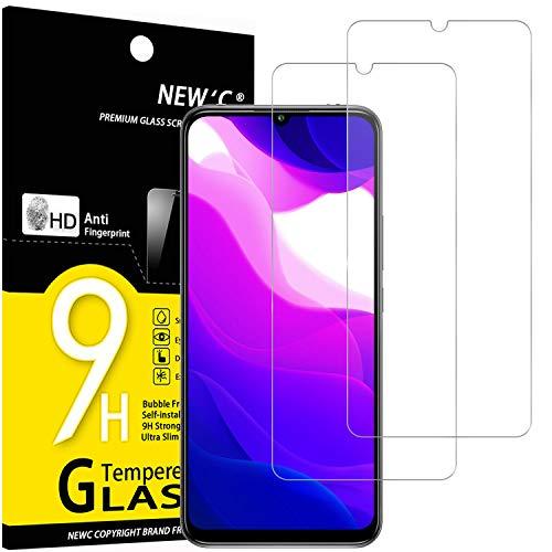 NEW'C 2 Pezzi, Vetro Temperato Compatibile con Xiaomi Mi 10 Lite, Pellicola Prottetiva Anti Graffio, Anti-Impronte, Durezza 9H, 0,33mm Ultra Trasparente, Ultra Resistente