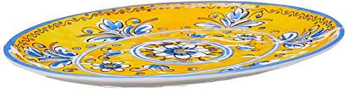 Le Cadeaux 16&Quot; Coupe Oval Platter Benidorm, Multicolor