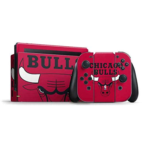 Skinit Decal Gaming Skin Compatible with Nintendo Switch Bundle - Officially Licensed NBA Chicago Bulls Large Logo Design