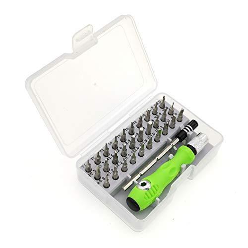 Feinmechaniker Schraubendreher Set,32-in-1 Mini Torx Inbusschlüssel Feinmechanik Werkzeug Set Magnetisierbar Reparatur Set für Uhr Brille Modellbau Smartphone PC Tablet Kamera