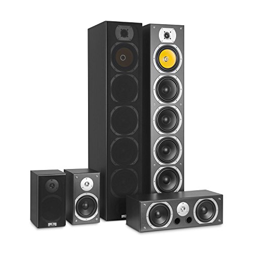 AUNA V9B Surround Altoparlante - Set diffusori , Sistema Audio Surround , Sistema Home Theatre ,...