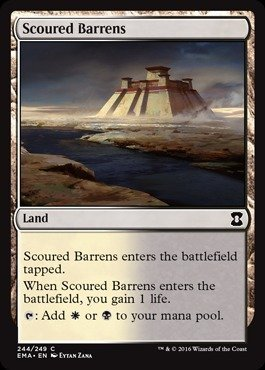 Magic The Gathering - Scoured Barrens - Eternal Masters - Foil by