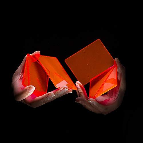 Enjoyer Tarjeta Magic-Pieces of Cardistry Bloques de Colores Práctica Corte de Flores Juego de Cartas Trucos de Magia Accesorios de Magos Ilusiones Truco mágico, 8Pcs / Set