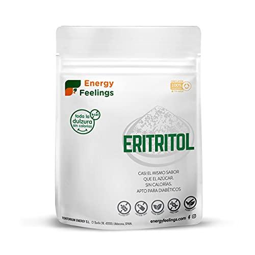 Energy Feelings Eritritol granulado | 0% Kcal | Edulcorante y Endulzante Natural | Sin Azúcar | Sin Gluten | Vegano | Edulcorante para Cocinar | 200g