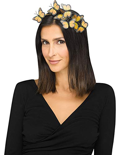 Butterfly Headband Adult Costume Accessory Yellow