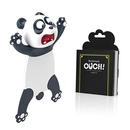 Witzige 3D Stereo Cartoon schön Tier Lesezeichen Lustiges Geschenk für Studenten Kinder tolles Geschenk (Panda)