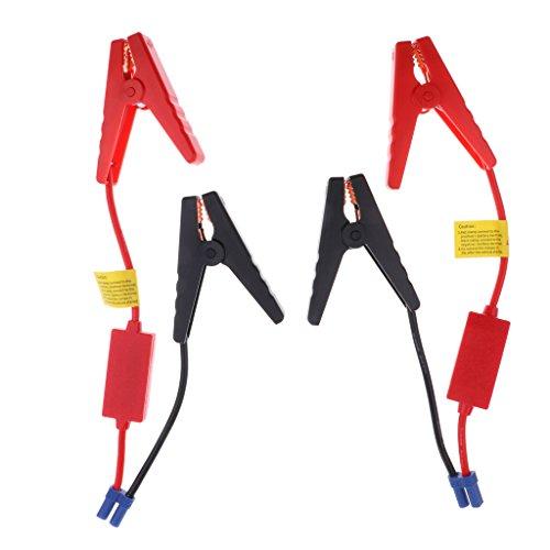 Sharplace 2X Replacement Mini Câble Voiture Batterie Clamps Clip d'urgence Puissance Pince 200A 10AWG