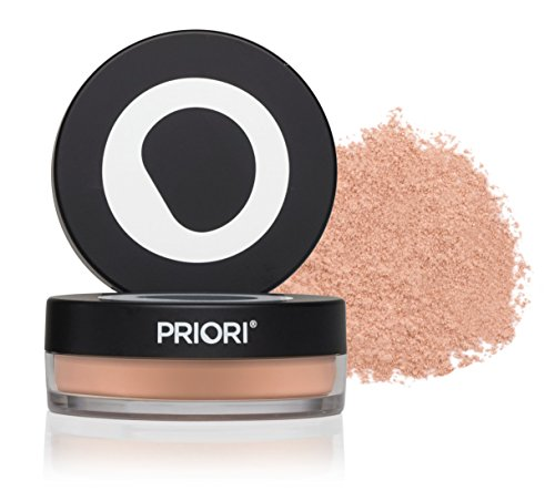 Priori Skincare All-Natural Mineral Skincare Powder SPF 25 Sunscreen , Antioxidant , Flawless Coverage , Loose Mineral Foundation Makeup , Dermatologist Tested