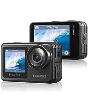 【2020進化版/本機防水】AKASO Brave 7 LE アクションカメラ 4K WiFi IPX7 デュアルカラースクリーン EIS2.0手ぶれ補正 光學4倍ズームレンズ 4K30FPS 20MP高畫質 SONYセンサー 1350mAhバッテリー2個 40M防水(ケース必要) リモコン付き 豊富なアクセサリー アクションカム【12ヶ月保証】