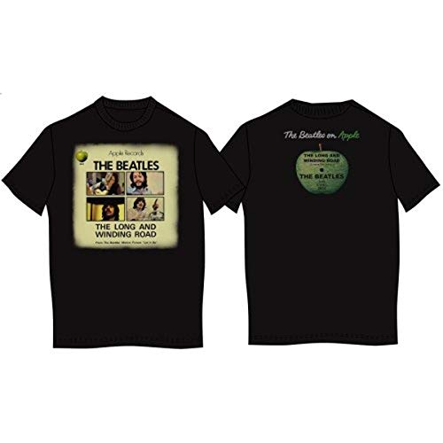 Rockoff Trade Long and Winding Road Vintage, T-Shirt Homme, Noir, Small (taille Fabricant: Small)