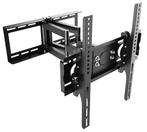 RICOO Fernseher TV Wand-Halterung Schwenkbar Neigbar Drehbar (R28) Universal Fernsehhalterung für 32-65 Zoll (bis 75-Kg, Max-VESA 400x400) Flach Curved Bildschirme