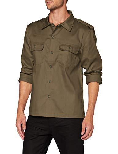 Brandit, camicia americana a maniche lunghe oliva L