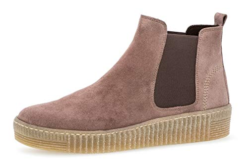 Gabor Damen Chelsea Boots 33.731, Frauen Stiefelette,Stiefel,Halbstiefel,Bootie,Schlupfstiefel,flach,Dark-Rose (Natur),38 EU / 5 UK
