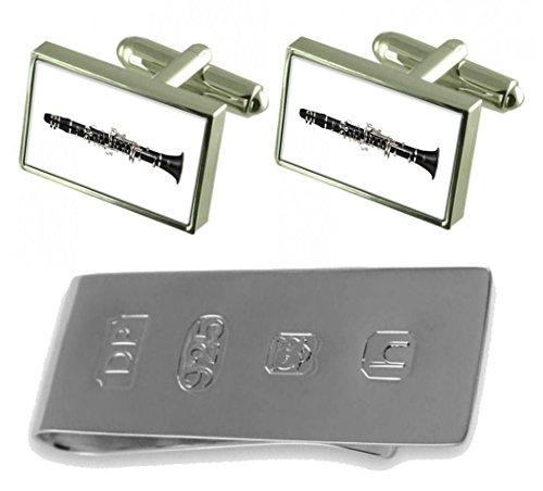 Price comparison product image Music Clarinet Cufflinks & James Bond Money Clip