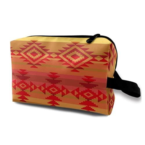 Neceser Colgante de Viaje,Nativo Americano Tradicional Indio Azteca Mexicano México,Organizador de Maquillaje cosmético Bolsa de higiene y Organizador de Ducha