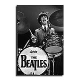 FINDEMO Ringo Starr Poster, dekoratives Gemälde, Leinwand,