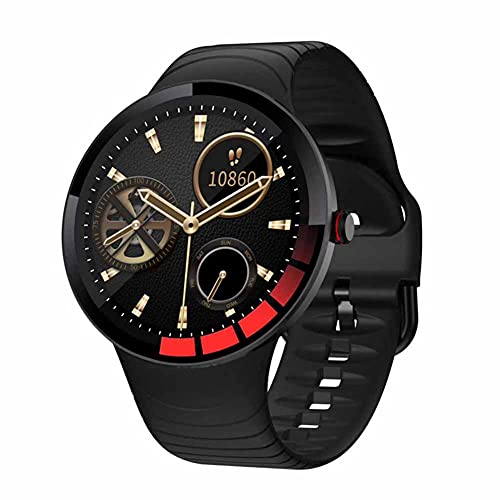 XHJL Reloj Inteligente Rastreador de Actividad física Pantalla táctil Completa Presión Arterial Sueño Monitor cardíaco IP67 Podómetros Bluetooth a Prueba de Agua para Android iOS, Unisex