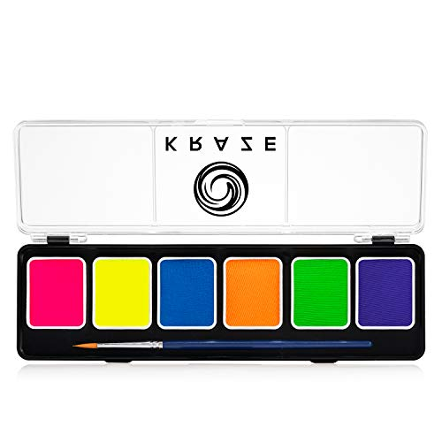 Kraze FX 6 Color Neon Face & Body Paint Palette (6 gram) with Brush -...