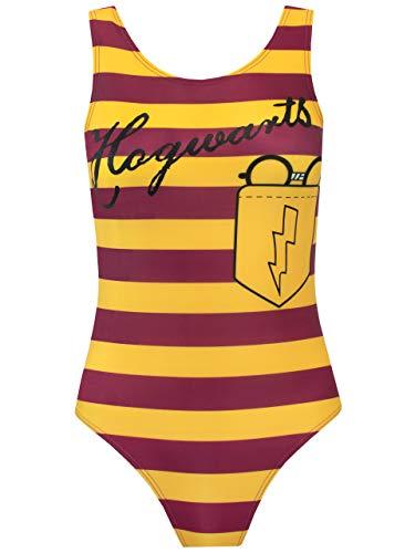 Harry Potter Damen Hogwarts Badeanzug Gelb Small