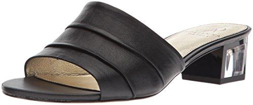 Adrianna Papell Women's Tiana Sandal, Black Leather, 8.5 M US