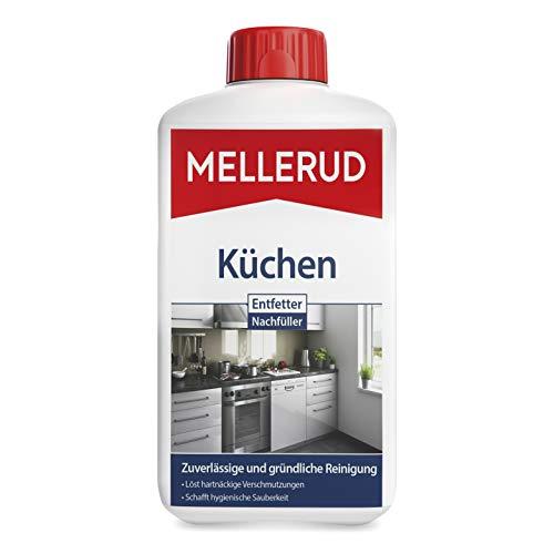 MELLERUD Küchen Entfetter Nachfüller – Effektives Mittel zum Entfernen von Fett und Verkrustungen in der Küche u. v. m. – 1 x 1 l