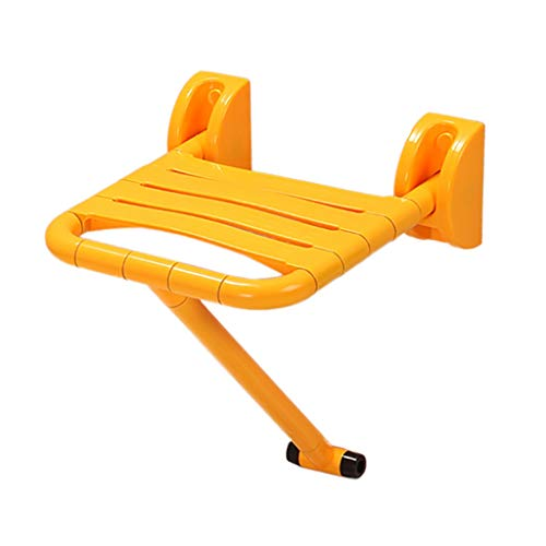 LwBathtub Tray Badkuipstoel, eenvoudig te monteren aan de muur van de inklapbare stoel voor douche, inklapbare zitting, douchecabine, met steunpoten